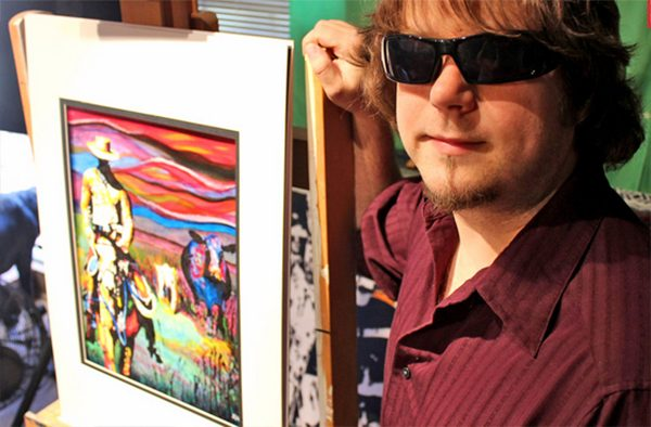 Blind, Epileptic Painter Creates Stunning Works of Art