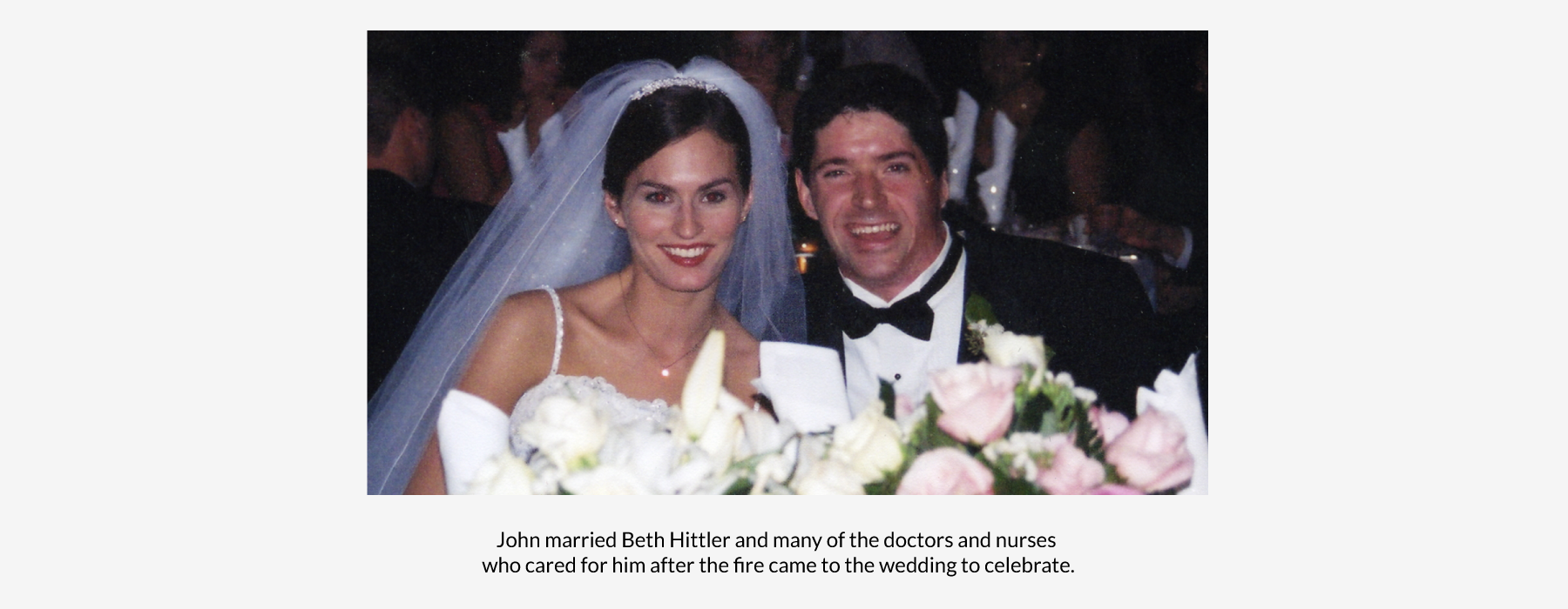 John and Beth on their wedding day
