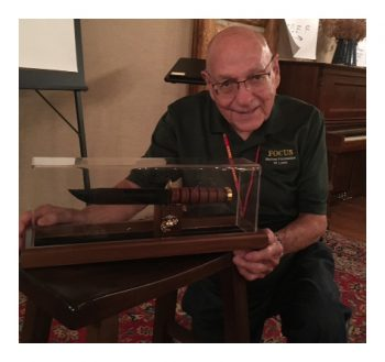 Walt, with the KA-BAR he presented to John for serving FOCUS Marines.