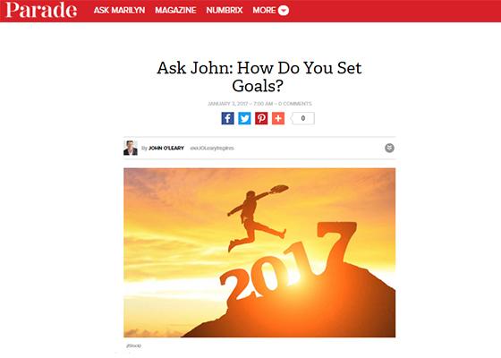 Ask John Setting Goals John Oleary