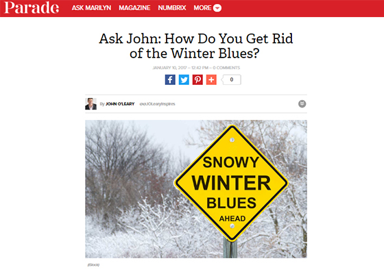 Ask John Getting Rid Of The Winter Blues John Oleary