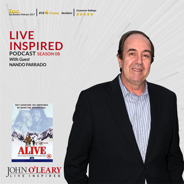 Nando Parrado, plane crash survivor and subject of the movie ALIVE.