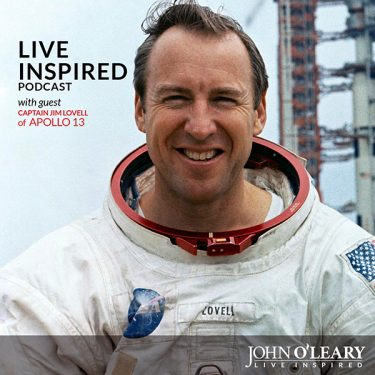 Apollo 13 Spacecraft Commander Jim Lovell on Live Inspired Podcast with John O'Leary