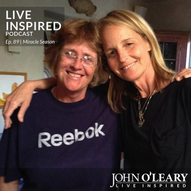 Kathy Bresnahan and Helen Hunt together for The Miracle Season Movie.