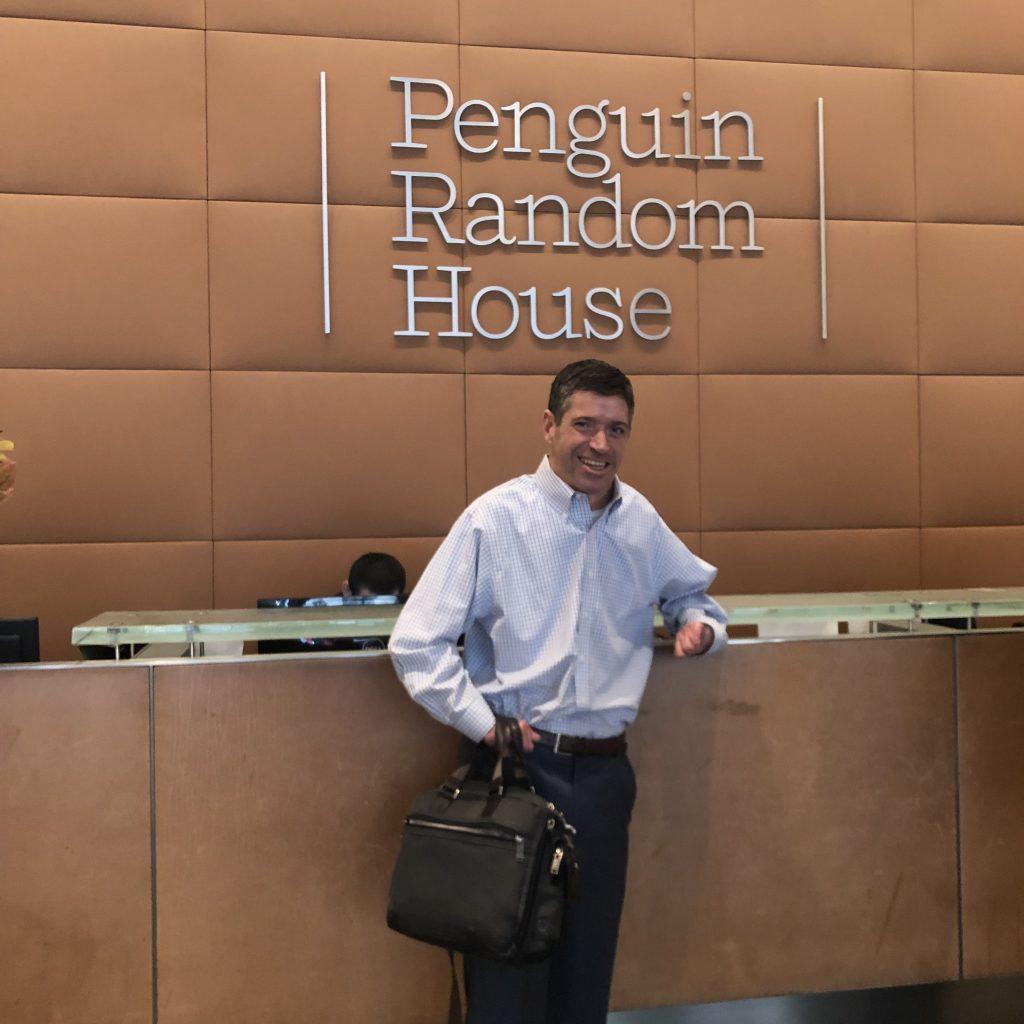 John meets the Penguin Random House team.