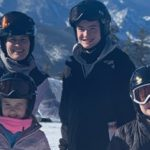john o'leary with family skiing