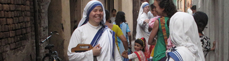 KOLKATA, INDIA - JANUARY 27: Sister of Missionaries of Charity a