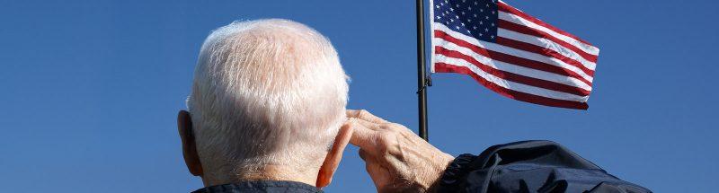 American Dream, Veteran Saluting Flag