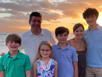 John O'Leary and family experiencing the magic of vacation in Maui